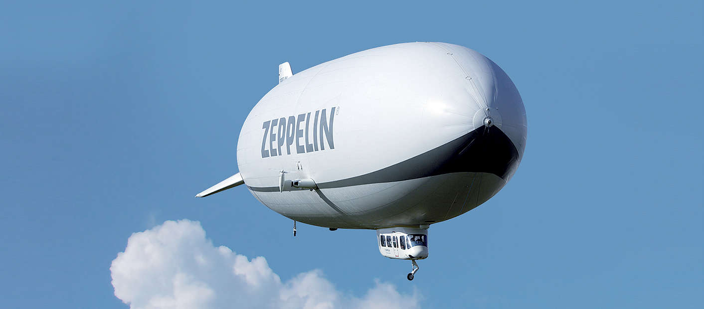 Zeppelin in der Luft